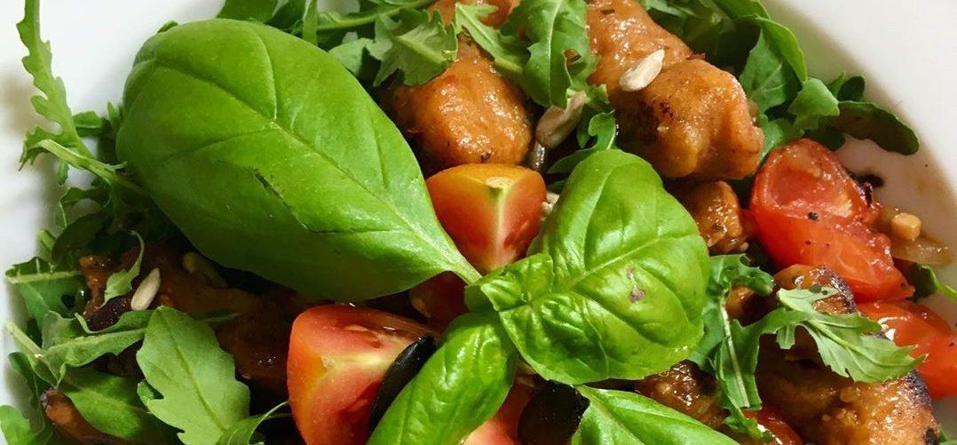 Süsskartoffel Gnocchi mit Rucola